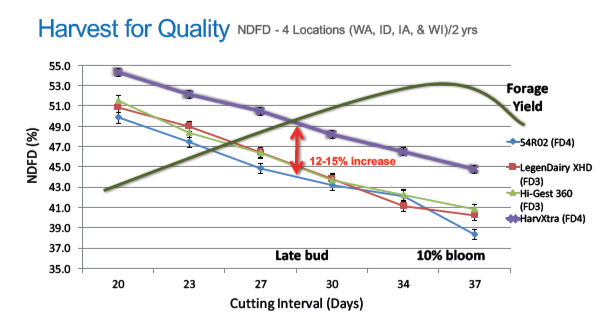 HarvXtra Harvest chart for quality in NDFD(%25)
